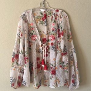 Time and Tru boho blouse with cami